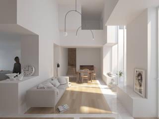 Corpo Atelier Ruang Keluarga Minimalis White
