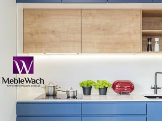 REALIZACJA WNĘTRZA W ODWAŻNYM WYDANIU - MEBLE WACH - www.meblewach.com.pl : styl , w kategorii Aneks kuchenny zaprojektowany przez MEBLE WACH