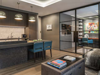 Fitzrovia: London Roselind Wilson Design غرفة المعيشة