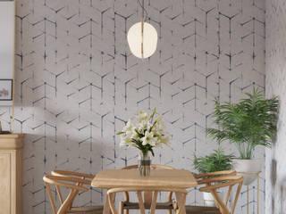 Elegant living area Comedores de estilo escandinavo de Isabel Gomez Interiors Escandinavo