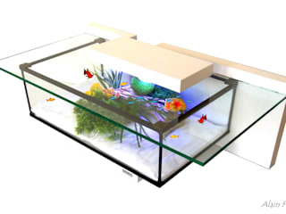 Table basse aquarium TINY:  de style  par VPA DESIGN