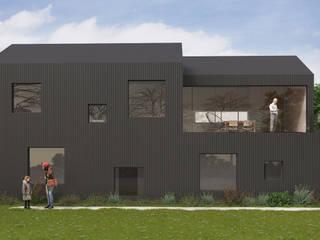 Anteproyecto casa frente al río: Casas unifamiliares de estilo  por Kgarquitectura