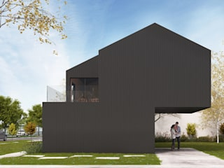 Anteproyecto casa frente al río: Casas de estilo moderno por Kgarquitectura