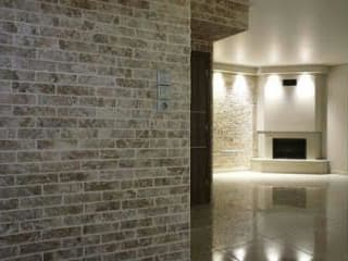 Mediterranean style corridor, hallway and stairs by Tepostone South Africa Mediterranean