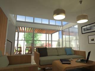 Casa VA: Salas de estilo  por QUIRSA arquitectos