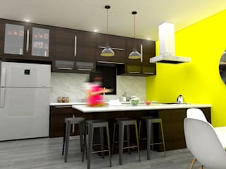 Casa OG Cocinas modernas de Osuna Arquitecto Moderno