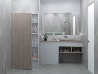Projekty,  Łazienka zaprojektowane przez Buro19.1