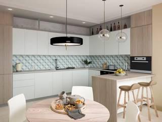 Projekty,  Kuchnia zaprojektowane przez Buro19.1