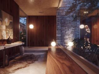 ENCUENTROS - RECIBIDOR: Pasillos y recibidores de estilo  por ADRIAN CARDENAS BUILDING WORKSHOP