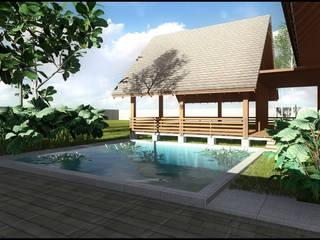 de estilo tropical por SARAGA Studio Arsitektur, Tropical