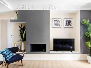 Vivienda de Pedro Salones de estilo moderno de Rez estudio Moderno