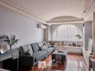 樂活 | 美式鄉村 3房2廳 | 芸匠室內設計 Artisan Design 根據 芸匠室內裝修設計有限公司 鄉村風