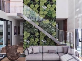 CASA ILO 2018: Salas / recibidores de estilo  por TECTONICA STUDIO SAC