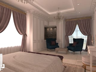 French classical villa: classic Bedroom by dal design office