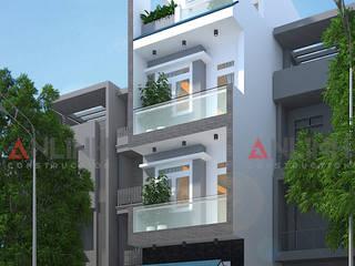 Công trình nhà phố PHẠM NGỌC TOÀN quận Tân Phú bởi CÔNG TY THIẾT KẾ XÂY DỰNG AN LĨNH