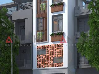 Công trình nhà phố LÂM PHÚC NHÂN, Quận 3 bởi CÔNG TY THIẾT KẾ XÂY DỰNG AN LĨNH