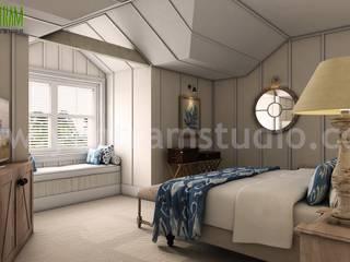 Bedroom Design Ideas, Pictures, and Inspiration by Yantram Interior Design Firms - San Francisco, USA Modern Yatak Odası Yantram Architectural Design Studio Modern