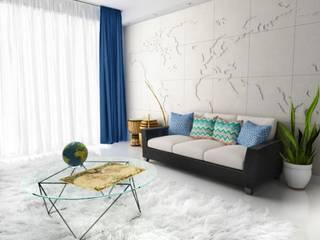Wandweltkarte aus Gips MAP OF THE WORLD:   von Loft Design System Deutschland