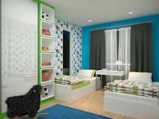 Subang Parkhomes:  Bedroom by Yucas Design & Build Sdn. Bhd.