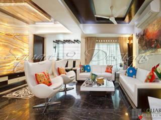 BHAJAN KEWALRAMANI - FLAT SCHEME 1 Square Designs Modern living room