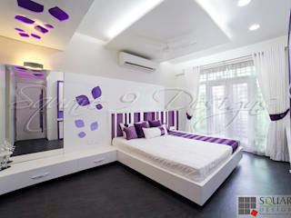 BHAJAN KEWALRAMANI - FLAT SCHEME 1 Square Designs Modern style bedroom