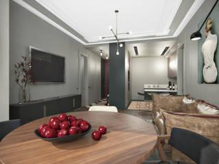 Квартира в ЖК Шмитовский: Гостиная в . Автор – Бюро 19.23