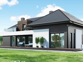 Projekt domu HomeKONCEPT 53: styl , w kategorii Dom jednorodzinny zaprojektowany przez HomeKONCEPT | Projekty Domów Nowoczesnych