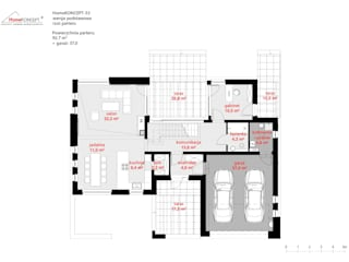 Projekt domu HomeKONCEPT 53: styl , w kategorii  zaprojektowany przez HomeKONCEPT | Projekty Domów Nowoczesnych