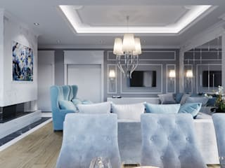 Living room by GLAM PROJECT Sp. z o.o., Classic