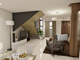 Brand new 2 storey house - Living room and Dining space by homify Modern