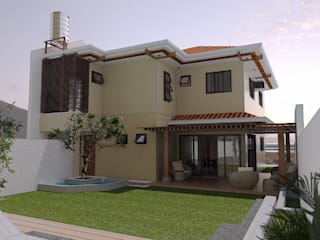 Major renovation and expansion project in Talisay City - Backyard and Garden area:  Multi-Family house by Architecture Creates Your Environment Design Studio