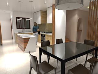 Major renovation and expansion project in Talisay City - Dining and Kitchen area :  Dining room by Architecture Creates Your Environment Design Studio