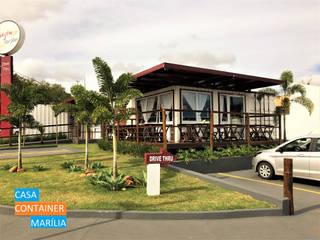 od Casa Container Marilia - Barros Assuane Arquitetura Nowoczesny