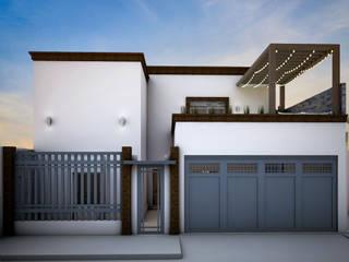 Ampliación y Remodelacion de Fachada de Osuna Arquitecto Moderno