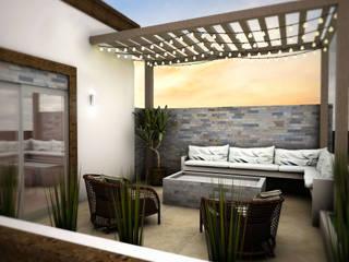 Ampliación y Remodelacion de Fachada Balcones y terrazas modernos de Osuna Arquitecto Moderno