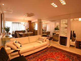 Apartamento recém casados: Salas de estar  por ANE DE CONTO  arq. + interiores,