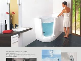Sitzbadewanne b•systems BadezimmerWannen und Duschen Kunststoff Weiß