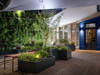 ATELIER SO GREEN Balconies, verandas & terraces Plants & flowers Grey