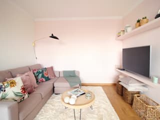 Sala de estar : Salas de jantar escandinavas por Rima Design