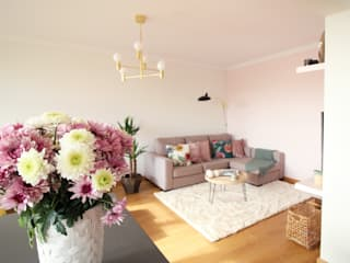 Scandinavian style living room by Rima Design Scandinavian