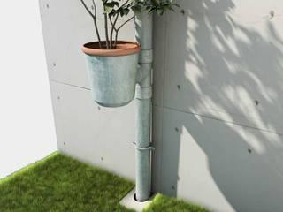 "Projet ""Front"" Thomas Dellys Balcon, Veranda & TerrasseAccessoires & décorations Aluminium/Zinc"