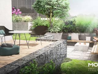Mały ogród nowoczesny od MOSS Architektura krajobrazu