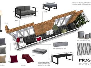 Miejskie balkony loftowe od MOSS Architektura krajobrazu