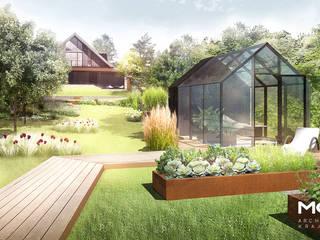 Natura i design w Zabierzowie od MOSS Architektura krajobrazu