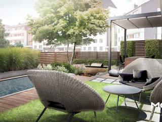 Ogród miejski z basenem od MOSS Architektura krajobrazu