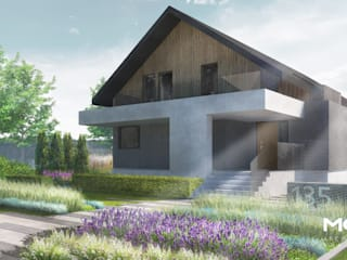Geometryczny ogród w Janowie od MOSS Architektura krajobrazu