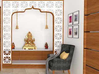 pooja room design by KISHAN SUTHAR