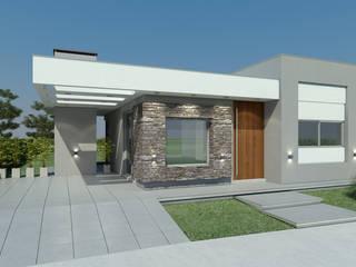 Casa Unifamiliar en Barrio Privado. de Agustín Reyes - Zoom Arquitectura. Clásico