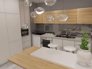 Apartamento Côte D'Azur Cozinhas escandinavas por Angelourenzzo - Interior Design Escandinavo