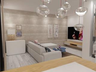 Apartamento Côte D'Azur Salas de estar escandinavas por Angelourenzzo - Interior Design Escandinavo